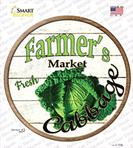 Farmers Market Cabbage Wholesale Novelty Circle Sticker Decal