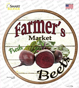 Farmers Market Beets Wholesale Novelty Circle Sticker Decal