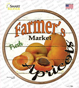 Farmers Market Apricots Wholesale Novelty Circle Sticker Decal