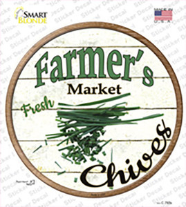 Farmers Market Chives Wholesale Novelty Circle Sticker Decal