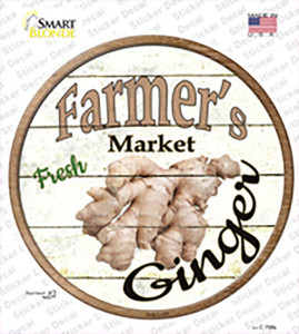 Farmers Market Ginger Wholesale Novelty Circle Sticker Decal