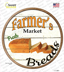 Farmers Market Breads Wholesale Novelty Circle Sticker Decal