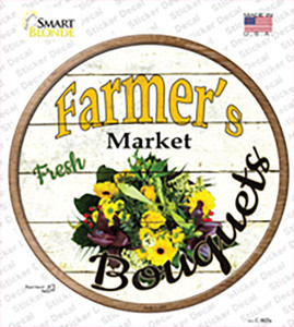 Farmers Market Bouquets Wholesale Novelty Circle Sticker Decal