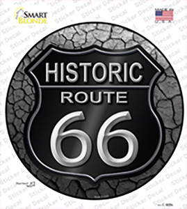 Historic Route 66 Wholesale Novelty Circle Sticker Decal