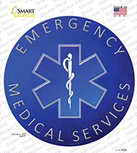 Emergency Medical Services Wholesale Novelty Circle Sticker Decal