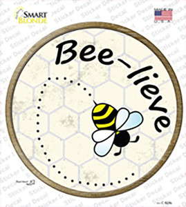 Bee-Lieve Wholesale Novelty Circle Sticker Decal