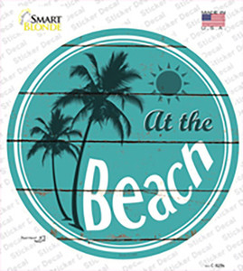 At The Beach Wholesale Novelty Circle Sticker Decal