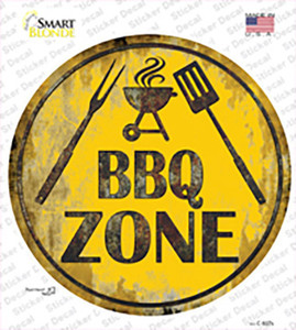BBQ Zone Wholesale Novelty Circle Sticker Decal