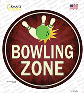 Bowling Zone Wholesale Novelty Circle Sticker Decal