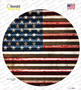 American Flag Wholesale Novelty Circle Sticker Decal