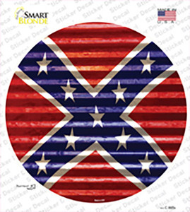 Confederate Flag Wavy Wholesale Novelty Circle Sticker Decal