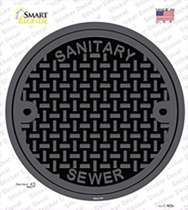 Manhole Cover Wholesale Novelty Circle Sticker Decal