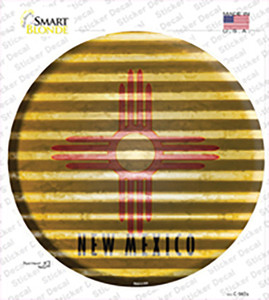 New Mexico Flag Corrugated Wholesale Novelty Circle Sticker Decal