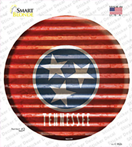 Tennessee Flag Corrugated Wholesale Novelty Circle Sticker Decal