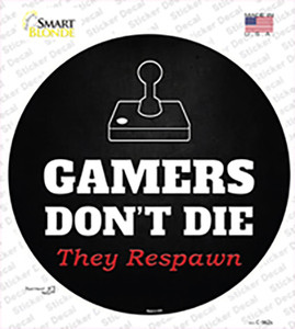 Atari Gamers Dont Die Wholesale Novelty Circle Sticker Decal
