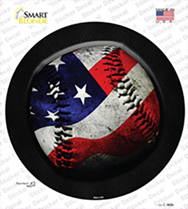 American Baseball Wholesale Novelty Circle Sticker Decal