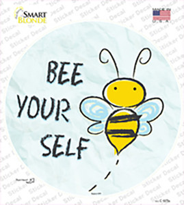 Bee Yourself Wholesale Novelty Circle Sticker Decal