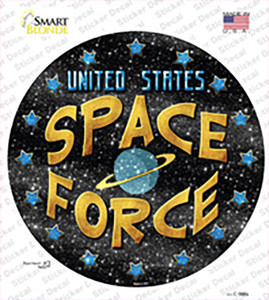 US Space Force Wholesale Novelty Circle Sticker Decal
