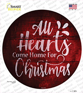 Come Home For Christmas Wholesale Novelty Circle Sticker Decal