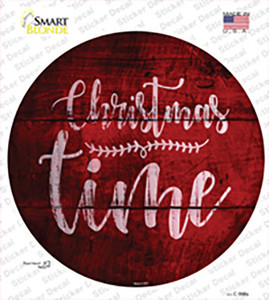 Christmas Time Wholesale Novelty Circle Sticker Decal