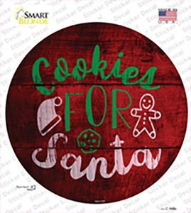 Cookies For Santa Wholesale Novelty Circle Sticker Decal