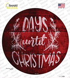 Days Until Christmas Wholesale Novelty Circle Sticker Decal