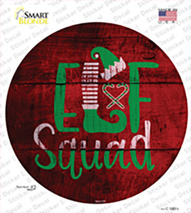 Elf Squad Wholesale Novelty Circle Sticker Decal
