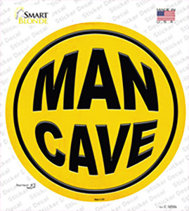 Man Cave Wholesale Novelty Circle Sticker Decal