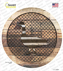 Duck on Wood Wholesale Novelty Circle Sticker Decal