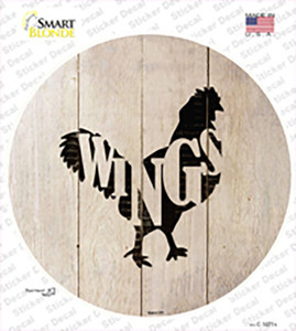 Chickens Make Wings Wholesale Novelty Circle Sticker Decal