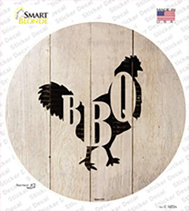 Chickens Make BBQ Wholesale Novelty Circle Sticker Decal