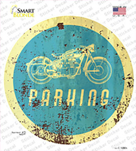 Motorcycle Parking Wholesale Novelty Circle Sticker Decal