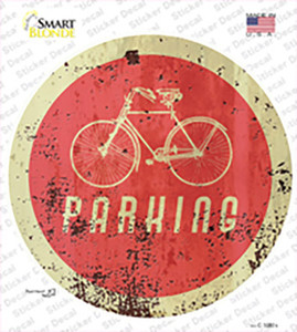 Bicycle Parking Wholesale Novelty Circle Sticker Decal