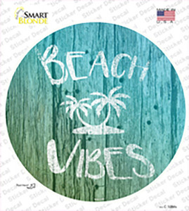 Beach Vibes Wholesale Novelty Circle Sticker Decal