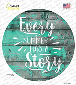 Every Summer Story Wholesale Novelty Circle Sticker Decal