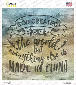 God Created the World Wholesale Novelty Circle Sticker Decal