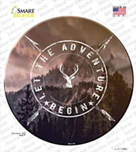 Let The Adventure Begin Wholesale Novelty Circle Sticker Decal
