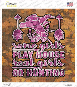 Real Girls Go Hunting Wholesale Novelty Circle Sticker Decal
