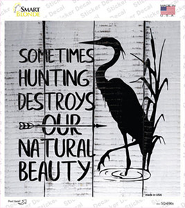 Destroys Natural Beauty Wholesale Novelty Circle Sticker Decal