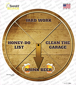 Drink Beer Wholesale Novelty Circle Sticker Decal