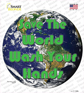 Save the World Wholesale Novelty Circle Sticker Decal