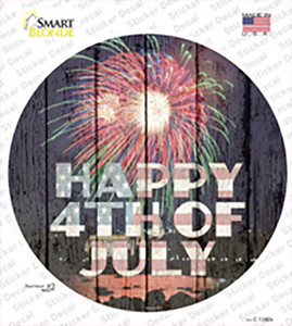Happy 4th of July Firework Wholesale Novelty Circle Sticker Decal