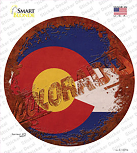 Colorado Rusty Stamped Wholesale Novelty Circle Sticker Decal