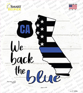 California Back The Blue Wholesale Novelty Circle Sticker Decal
