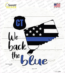 Connecticut Back The Blue Wholesale Novelty Circle Sticker Decal
