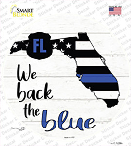 Florida Back The Blue Wholesale Novelty Circle Sticker Decal