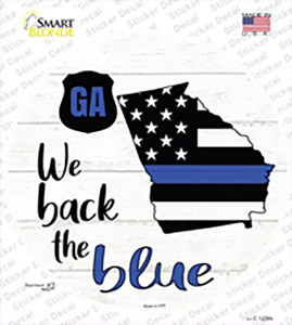 Georgia Back The Blue Wholesale Novelty Circle Sticker Decal