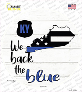 Kentucky Back The Blue Wholesale Novelty Circle Sticker Decal