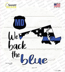 Maryland Back The Blue Wholesale Novelty Circle Sticker Decal