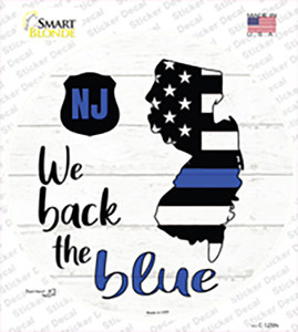 New Jersey Back The Blue Wholesale Novelty Circle Sticker Decal